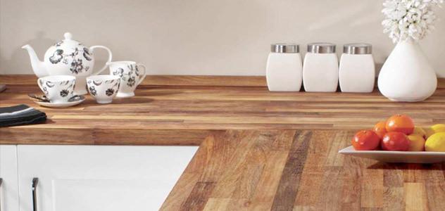 massief houten keuken werkbladen