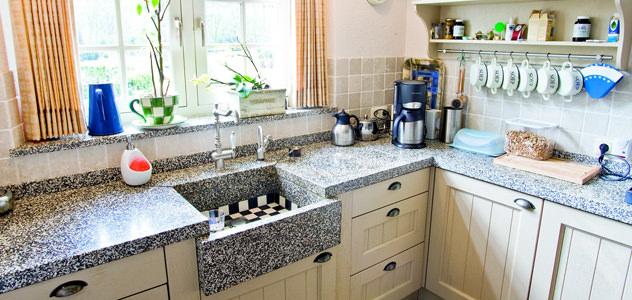 terrazzo keuken werkbladen